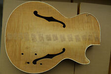 Semi Hollow Guitar Body / Arched Top Flame Maple Veneer Solid Mahongany Cavity