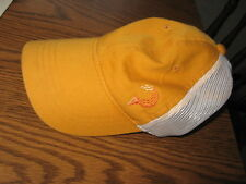 Yellow / White Golf hat with Golfball and Tee as a design on it -Unique!