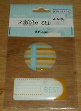 Colorbok Bubble Stickers Epoxy Thank You Embellishments NIP Free Ship Over $15
