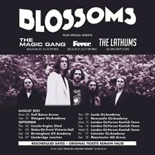 More details for 2 x blossoms tickets, manchester arena, 18th september