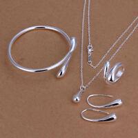 Gioielli donna a goccia Set Collana Bracciale orecchini anello/necklace bracelet