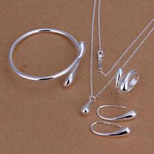Gioielli donna a goccia Set Collana Bracciale orecchini anello