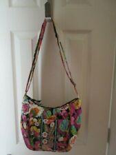 Vera Bradley Mod Bright Floral Quilted Shoulder Bag w Front Lap Over Pocket too
