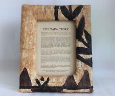 "Polynesian Folk Art Tapa Brown Beige Picture Frame 8"" x 10"""