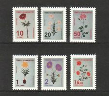 TURKEY 2019 FLOWERS (MARBLING) THEMED OFFICIAL POSTAGE STAMP SET OF 6 STAMP MINT