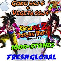 🌟 iOS - Dokkan Battle - Goku SSj4 + Vegeta SSj4 LR 1000+ Stones  Fresh Global
