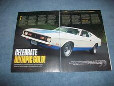 "1972 Ford Mustang Sprint SportsRoof Info Article ""Celebrate Olympic Gold"""