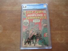 SGT FURY AND HIS HOWLING COMMANDOS #2 CGC 6.0  BEAUTIFUL SILVER AGE BOOK!