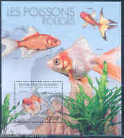 BURUNDI  2012 GOLDFISH   SOUVENIR SHEET MINT  NH