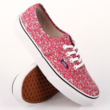 VANS AUTHENTIC LIBERTY ARTS FABRIC LEAVES PINK SHOES MENS 3.5 WOMENS 5 ART NIB