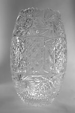 Large Cut Crystal Vase Turkish Glass Vintage Vase