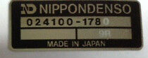 HONDA CBX CBX1000 CBX1000Z OIL COOLER NIPPONDENSO CAUTION WARNING LABEL DECAL