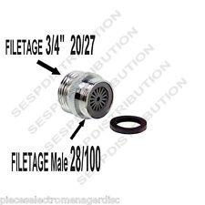 Raccordo adattatore tubi annaffiatura rubinetto vasca M 28/100 M 20/27 7.5/10 cm