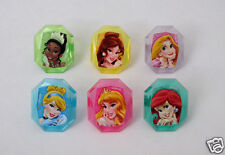 12 Disney Princess Cup Cake Rings Topper Kid Party Goody Bag Filler Favor Supply