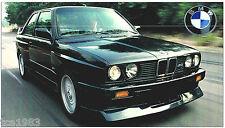 BMW M3 M-3 SPEC SHEET / Brochure: 1987 / 1988 / 1989 / 1990