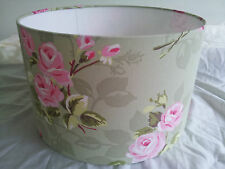 """14""""/35cm LAMPSHADE MADE FROM Clarke and Clarke  FABRIC(Nancy Rose sage )."""