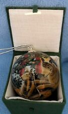 WOLF DESIGN GLASS ORNAMENT – HANDPAINTED FROM THE INSIDE