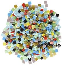 "Mosaic Mercantile Vitreous Glass Mosaic Tiles - Assorted Colors - 3/8"" - 1 Pound"
