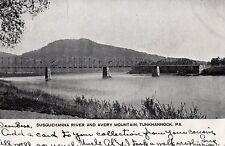 Susquehanna River & Avery Mountain in Tunkhannock Pa 1906