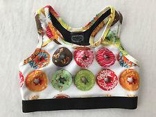 Zara Terez ZT Performance Apparel Donuts Sports Bra Top Big Girls Size M  NWT!