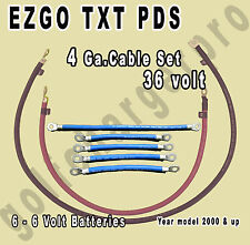 EZGO TXT PDS Golf Cart 36 Volt 4 Gauge HEAVY DUTY Battery Cable Wiring Set