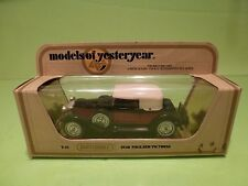 MATCHBOX YESTERYEAR Y-15 PACKARD VICTORIA 1930 - RED + BLACK - EXCELLENT IN BOX