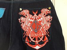 COOGI Authentic Australian Mens Jeans with Coogi Embroidered Pockets W33 L34