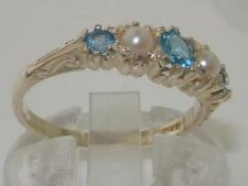 Topaz Natural Round White Gold Fine Gemstone Rings