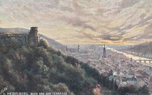 AK, vor 1945, Heidelberg, Blick von der Terrasse, TUCK's Postkarte,