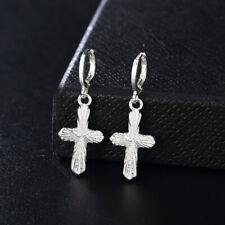 Fashion women elegant 925 Silver Cross hook Earring Jewelry wedding charm LE064