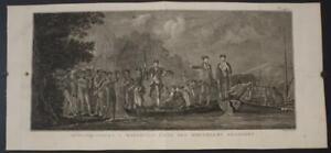 MALAKULA VANUATU CAPTAIN COOK LANDING 1774 COOK/BENARD/HAWKESWORTH ANTIQUE VIEW