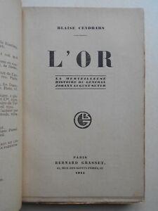 [Edition originale] Blaise CENDRARS - L'Or. Grasset, 1925
