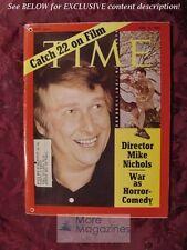 TIME Magazine June 15 1970 6/15/70 MIKE NICHOLS CATCH-22