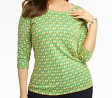 new TALBOTS SWEATER $99 2XP Thin Knit Button Down Back Green Pears 18WP 20WP