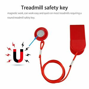 Universal Treadmill Running Machine Magnetic Security Switch Safety Lock Key Red