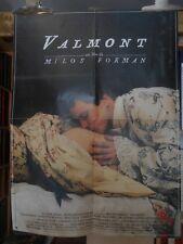 AFFICHE originale ( 60 x 80 ) VALMONT par Milos Forman - 1989 -