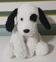 RUSS BERRIE CASSANOVA BLACK AND WHITE DOG WITH AN EYE PATCH SPARKLY! 28CM!