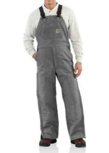 NWT!! CARHARTT FRR44 FLAME RESISTANT DUCK BIB HVY OVERALLS QUILT LINED 50x36