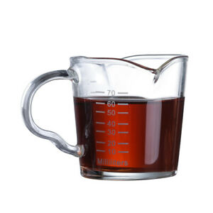 Pyrex Glass Espresso Cup with Double Mouth Milk Coffee Mug Shot Measuring Cup