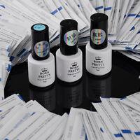 5ml Black Gel Polish Top Coat/ Base Coat Nail Soak Off UV Gel Remover Paper Tool
