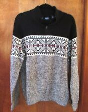 """Men's """"Chaps"""" Size L, Black,Red,Green,White,Gray, 3 Button, Pullover, Sweater"""