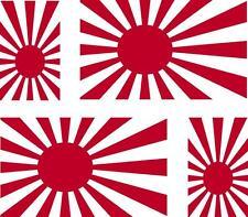 4 x flag decals sticker japan r car vinyl helmet motorcycle rising sun japanese