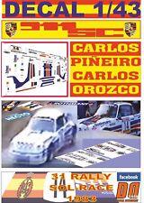DECAL 1/43 PORSCHE 911 SC ROTHMANS C.PIÑEIRO R.SOL-RACE 1983 DnF (01)