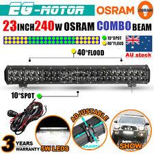 "23"" OSRAM 240W 4D LED WORK LIGHT BAR SPOT FLOOD LAMP OFFROAD DRIVING 4X4 ATV 4WD"
