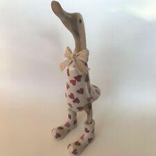 Outdoor Wooden Duck - Emma Bridgewater Hearts - OUTDOOR Garden Duck Ornament