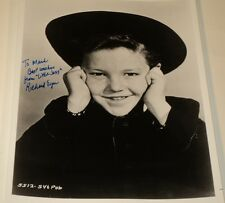 RICHARD EYER / FRIENDLY PERSUASION /  8 x 10  B&W  AUTOGRAPHED  PHOTO