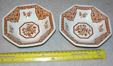 Two Vintage Royal Staffordshire Iron Stone Dishes Old Pekin Made in England