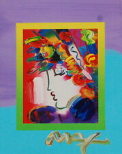 Peter Max, Blushing Beauty on Blends 2007 #2240 (Framed Original Painting)