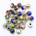 Wholesale 110pcs Mixed Cloisonne Enamel Round Spacer Loose Beads 6mm