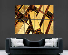 SOLID GOLD BARS BULLION POSTER MONEY LARGE WALL ART POSTER PICTURE BIG